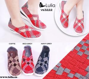 Sepatu Anyam Lulia Wedges VS3222